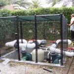 BLACK CHAIN LINK ENCLOSURE