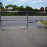 COMERCIAL GALVANIZED CHAIN LINK GATE