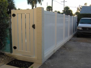 PVC TONGUE & GROOVE WITH SEMI-PRVATE CLOSED PICKET  GATE