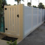PVC TONGUE & GROOVE WITH SEMI-PRIVATE CLOSED PICKET GATE