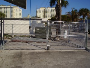 CUSTOM MADE BIFOLD GALVANIZED CHAIN LINK GATES