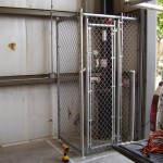 GALVANIZED CHAIN LINK ENCLOSURE