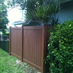 WOOD GRAIN PVC FENCE  (2)