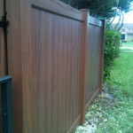 WOOD GRAIN PVC FENCE  (3)